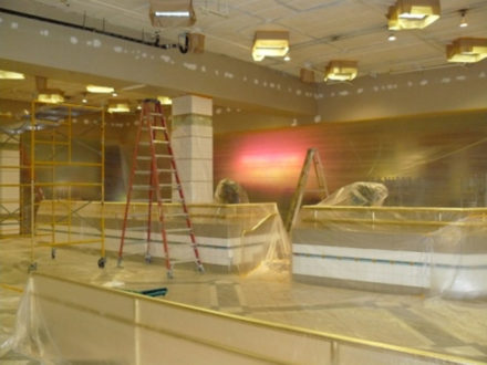 glendale mall interior commercial painting
