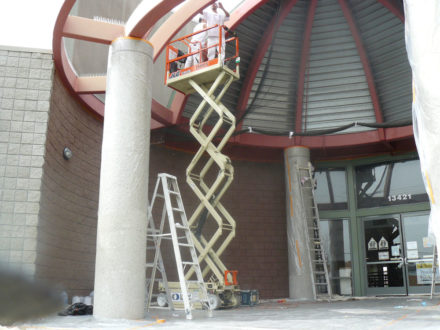 van nuys school exterior commercial painting