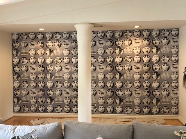 encino interior wallpaper installation project
